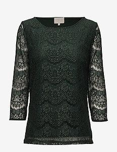 Anastacia Blouse - langærmede bluser - green gables