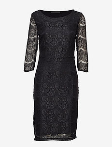 Anastacia dress - lace dresses - black
