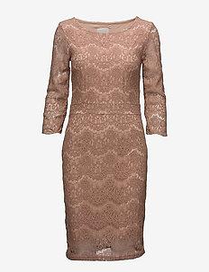 Anastacia dress - lace dresses - cafe creme