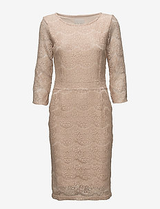 Anastacia dress - NUDE SMOKE