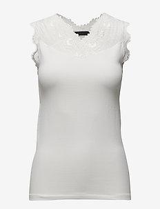 Vanessa top - topy bez rękawów - broken white