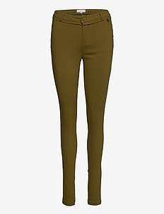 Carma Pants - trousers with skinny legs - olive
