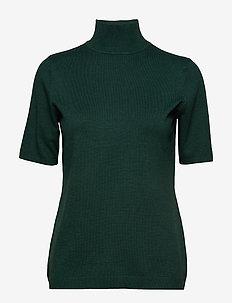Lima roll neck knit - HUNTER GREEN MELANGE
