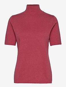 Lima roll neck knit - strikkede toppe - pink lemonade