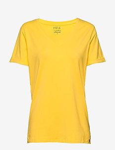 Adele tee - t-shirts - super lemon