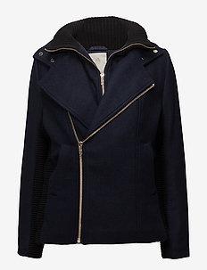 Lulu jacket - wool jackets - black iris