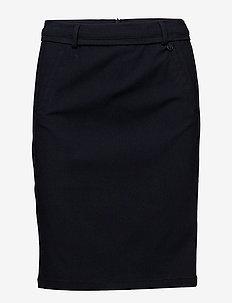 Carma skirt - midinederdele - black iris
