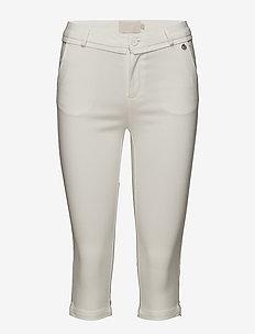 Carma cropped pants - slim fit bukser - cloud dancer