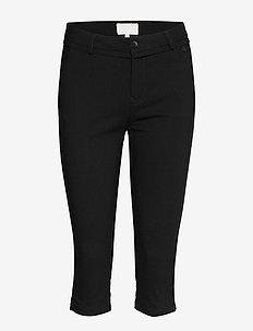 Carma cropped pants - slim fit trousers - sort