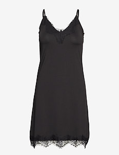 Asa slipover dress - bodies & slips - black