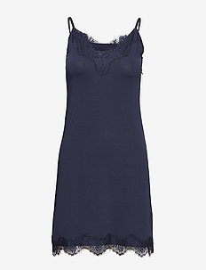 Asa slipover dress - BLACK IRIS