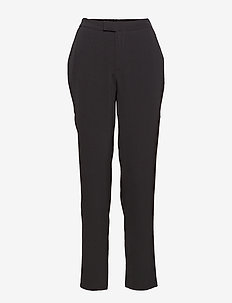 Charlotte pants - bukser med lige ben - black
