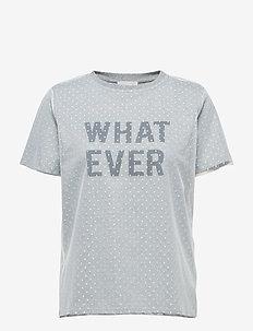 Celine tee - t-shirts med tryk - light grey melange