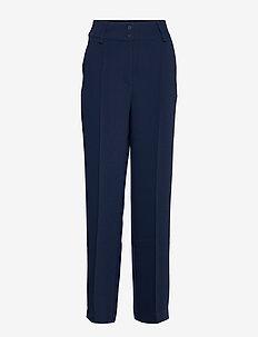 Ilsa pants - straight leg trousers - black iris