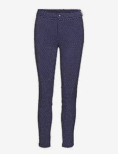 Carma dot pants 7/8 - trousers with skinny legs - black iris