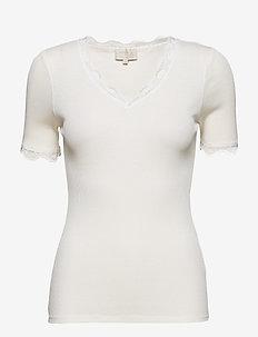 Ariel short sleeve - basic t-shirts - broken white