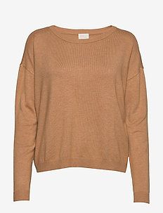 Elne knit - neulepuserot - almond melange