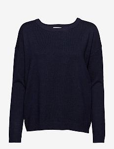 Elne knit - trøjer - black iris solid