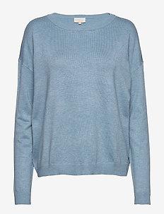 Elne knit - trøjer - bounty blue melange