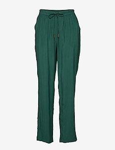 Summer pants - bukser med brede ben - hunter green
