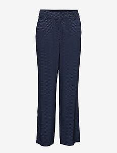 Sella pants - bukser med brede ben - black iris