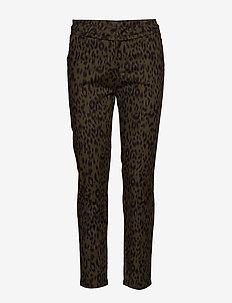 Carma leo pants 7/8 - straight leg trousers - leopard print