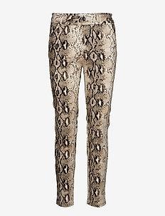 Snake pants 7/8 - bukser med lige ben - snake print