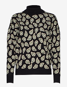 Malli knit pullover - turtlenecks - paisley jaquard