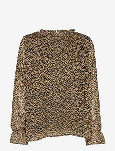 Rikka blouse - long sleeved blouses - flower field print