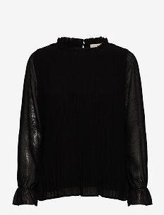 Rikka blouse - long sleeved blouses - sort