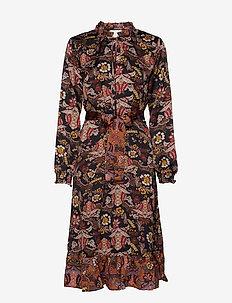 Cardi dress - AUTUMN BLOOM BLACK PRINT