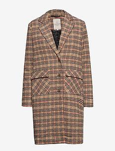 Dovie coat - ullkåper - chequered