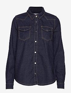 Lau denim shirt - denim shirts - dark denim