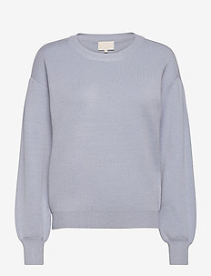 Lupi knit pullover - gensere - dusty blue