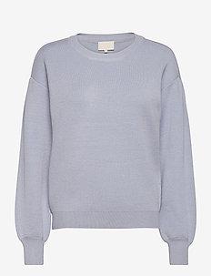 Lupi knit pullover - trøjer - dusty blue