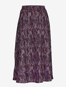 Carol skirt - maxi nederdele - purple agat