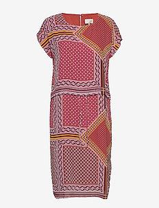 Elisabeth dress - FLOWER PATCHWORK PRINT