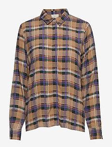 Lota shirt - long-sleeved shirts - purple aster check
