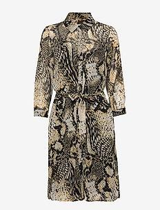 Rosalinda dress - skjortekjoler - yellow snake