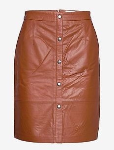 Torina leather skirt - short skirts - ginger bread