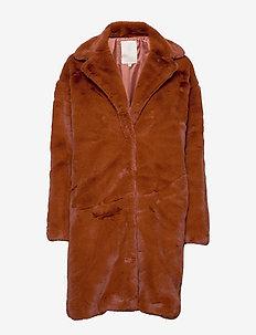 Elissa fake fur jacket - fausse fourrure - ginger bread