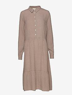 Liona dress - skjortekjoler - small sunflower dot print