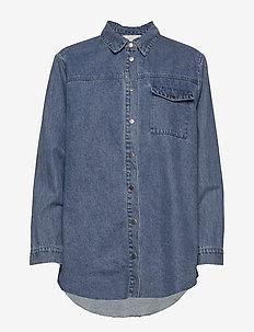 Lucca denim jacket - jeansjakker - denim melange