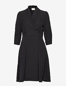 Violetta dress - slå-om-kjoler - sort
