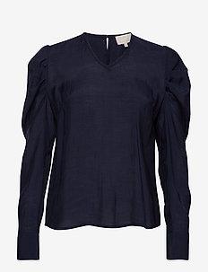 Zaranda blouse - langærmede toppe - black iris