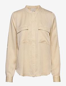 Emissa shirt - langærmede bluser - vanilla