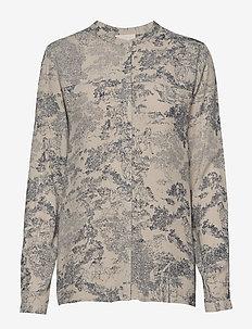 Zimri shirt - blouses med lange mouwen - antique print