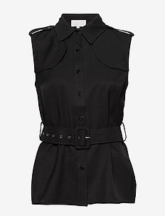 Limba shirt - sleeveless blouses - sort