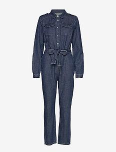 Larina denim jumpsuit - kombinezony - denim