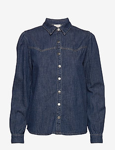 Larina denim shirt - denimskjorter - denim
